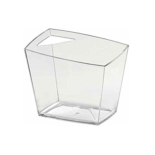 Weinkühler Sektkühler Doimoflair Madrid Bucket aus Kunststoff Transparent/ Sektkühler / Weinkühler / Champagnerschale / Punschschale / für 1 oder 2 Flaschen