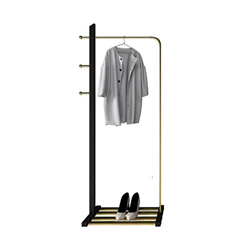 JIAO PAI Escaparate Soporte de exhibición, Metal Boutiques Ropa Espejo Pesada Ropa de la Manera del Carril de conferencias Salas Dormitorio Perchero Moda (Size : 170 * 60 * 30CM)