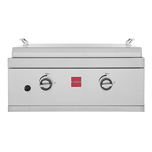 Fuego F27S-Griddle-B-NG F27S-Griddle-B 304SS Griddle Built-in Gas Grill, Stainless Steel