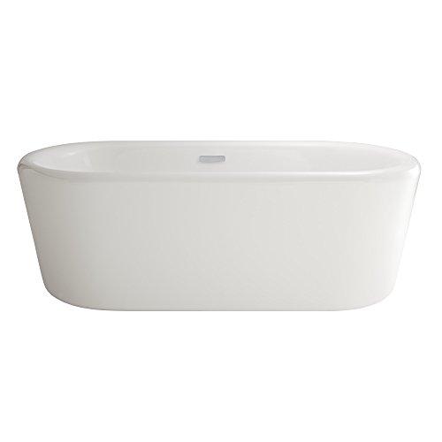 American Standard 2767034.020 Kipling Ovale 69 in. Acrylic Freestanding Soaker Bathtub, White American Standard Acrylic Oval Tub