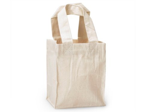 Pack of 10 Jewel Cotton Canvas Reusable Bags 4 X 3 X 525 - 100 Cotton Perfect For Gifts Crafts Shopping Bags