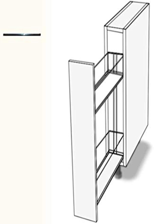Premium-Ambiente AAAAA137 Unterschrank Apothekerschrank Vollauszug Softclosing FE (Breite 20cm, 68 Basisweiss)