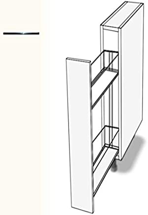 Hochwertig Premium Ambiente ASE068 Unterschrank Apothekerschrank Vollauszug  Softclosing FE (Breite 20cm, 68 Basisweiss)