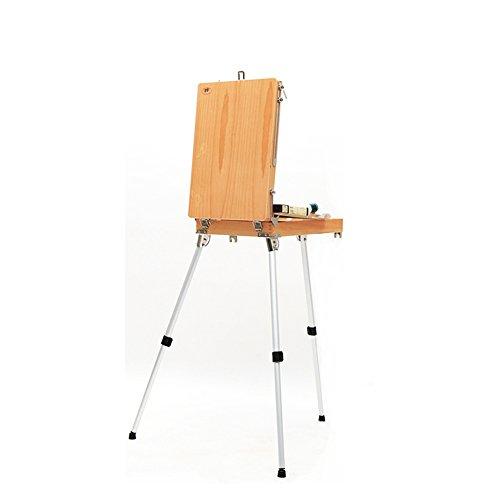 VIUNCE aleación de Aluminio Pintado a Mano Caja de Madera portátil de la Pintura de Caballete Caja de Lona Caballete de los niños