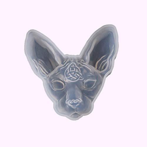 Ardentity - Stampo in Silicone a Forma di Testa di Gatto, per Decorazione in Resina, Stampo in Resina
