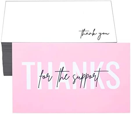 RXBC2011 100 Little Thank You for the support Cards Handwritten Lettering Design Bulk Thank product image