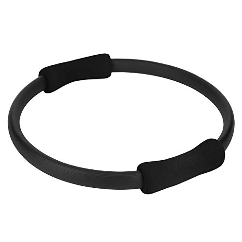 BIYI Massage Schleife Pilates Ring Magic Circle Dual Grip Sportartikel Pilates Yoga Ring Körper Gewicht verlieren Übung Fitnessgeräte (schwarz) ()