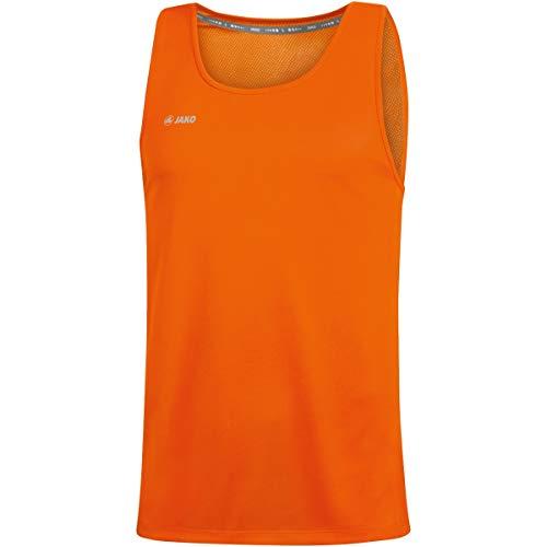 JAKO Débardeur Run 2.0 pour Homme. XL Orange Fluo
