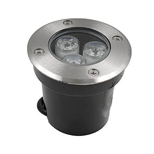 AOMEX Faretto LED segnapasso esterno 3W 630lm Impermeabili IP68 Lampada da Giardino da Terra per Scala, Prato, Vialett (Naturale-4500K, 3W)