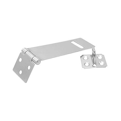 1 UNID Portátil Hogar de acero inoxidable Bloqueo de la puerta de la puerta de la puerta del bloqueador del pestillo del pestillo Asegure Bolt Secure (Size : 3 inch)