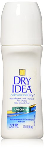 Dry Idea Anti-Perspirant Deodorant Roll-On Unscented 3.25 oz (Pack of 6)