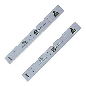 Barra de lámpara LED de 2 piezas para refrigerador de puerta frontal Haier BCD-575WDBI 0064001827