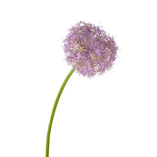 artplants.de Set 3 x künstliches Allium Samara, lila, 75cm, Ø 12cm - Zierlauch - Riesen Lauch