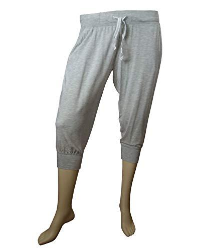 Tchibo TCM 3/4 Relaxhose Hose weiche Modal Qualität Grau oder Blau (Grau-Melange, 36/38 S)