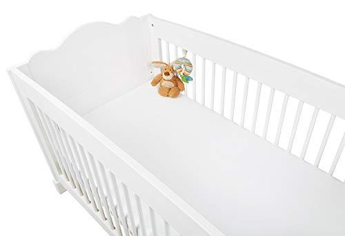 Pinolino 540002-0D Doppelpack - Spannbetttuch für Kinderbetten weiß