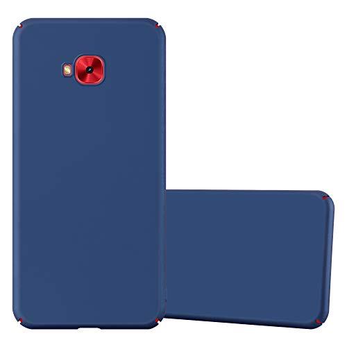 Cadorabo Hülle für Asus ZenFone 4 Selfie PRO in Metall BLAU - Hardcase Handyhülle aus Plastik gegen Kratzer & Stöße - Schutzhülle Bumper Ultra Slim Back Hülle Hard Cover