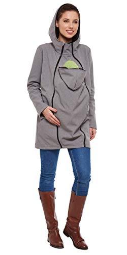 Be Mama Maternity & Baby wear 3 en 1 Manteau de maternité et de maternité en softshell (colonne d'eau : 10 000 mm) - Multicolore - 38