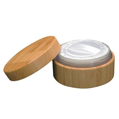 Frcolor Loserpuder Box Holz Leer Make Up Powder Puderquaste Box Case Container mit Abdichtscheibe Deckel 30ml
