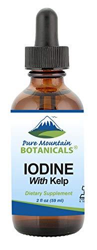 Liquid Iodine Supplement with Organic Kelp - Kosher Vegan Potassium Iodide Drops Solution - Alcohol Free- Support Thyroid Health