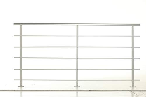 Geländer - Set aus Aluminium PAB 80 DOLLE - Boden Montage (€/m) für Innen und Außen