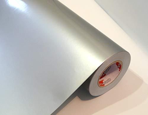 Neuheit bei tjapalo® Möbelfolie selbstklebend hochglanz Küchenfolie Bastelfolie Türfolie Klebefolie zum basteln folie zum bekleben von möbel mit Anleitung, Farbe: Silber, Größe: L300xB63cm