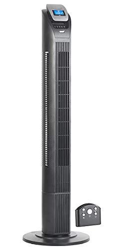 Sichler Haushaltsgeräte Säulenventilator: 3-stufiger Design-Turmventilator mit Ionisator, 75°-Oszillation, 50 W (Stand und Turmventilatoren)