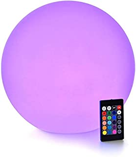 LED Light Ball : 12-inch RGB Colors Light Sphere with Remote Control, Cordless Floating Pool Lights, IP68 Waterproof and R...