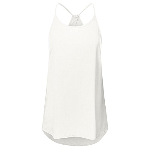 ESAILQ DamenSommer T-Shirt/Oberteile Kurzarm - Damen(M,Weiß)