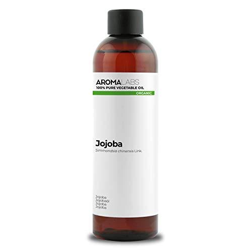 Aroma Labs Bio - Aceite Vegetale de Jojoba, Garantizado 100% Puro, Natural y Prensado en Frío - Orgánico Certificado por Ecocert, Neutral, 250 Mililitros