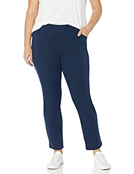 Briggs New York Women s Plus Size Pull on Pant Navy 18W