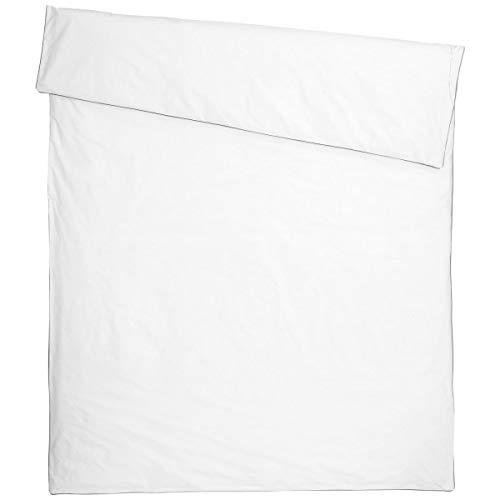 Bettbezug Neva ohne Volant, 155x220 cm (BxL), weiß/grau