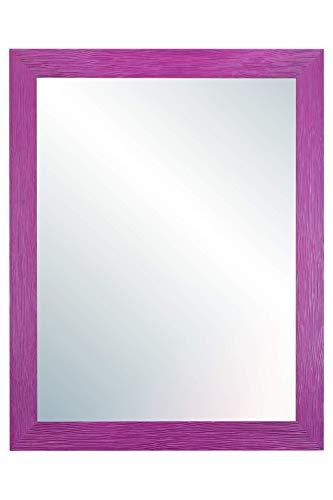 Chely Intermarket, Espejo de Pared Cuerpo Entero 30X40 cm(37,50x47,50cm)/Morado/Mod-146, Ideal para peluquerías, salón, Comedor, Dormitorio y oficinas. Fabricado en España. Material Madera.