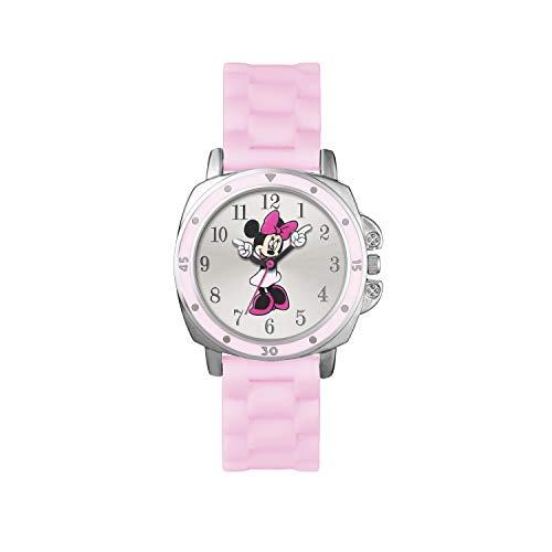 Minnie Mouse Filles Analogique Quartz Montre avec Bracelet en Caoutchouc MN1063