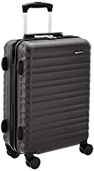 AmazonBasics Hardside Luggage Spinner - 55cm Cabin Size, Black, Approved for budget airlines,AmazonBasics,N989-20,cabin suitcase,luggage suitcase,suitcase for travel,suitcase set,suitcases with wheels,trolley bags for travel 80 cms,trolley bags with lock,trolley bags with wheels under 2000,trolly,wheeler bag