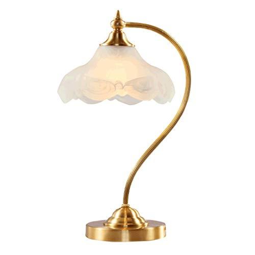 FFLJT American Country Copper Tischlampe - Retro Schlafzimmer Nachttischlampe, Study Table Eye Lampe