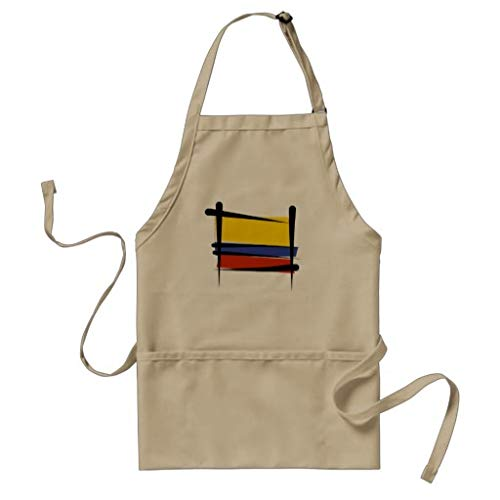 Tr73ans Colombia Borstel Vlag Volwassen Gift Bakers Schort Keuken Schort Womens Schort Wijn Liefhebber Grappig Schort Housewarming Gift