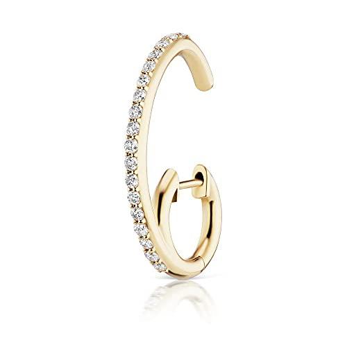 Pendientes triangulares individuales de plata de ley 925, llantas de rueda abierta, pendientes largos, circonita de cristal, joyería para mujer, 1 Uds.