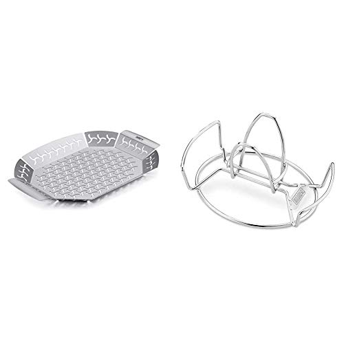 Weber Premium grilling basket, Large, stainless steel, Mixed & Poultry Roaster