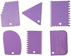 مجموعة مكونة من 6 ادوات تقطيع عجين ومعجنات تتضمن مكشطة وشكين كيك وملعقة بسط مصنوعة من السيليكون