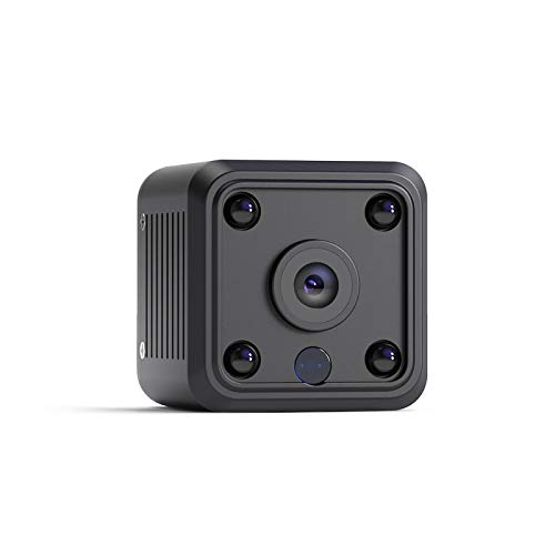 Mini Camara Espia Oculta Videocámara, OWSOO 1080P HD Cámara Vigilancia 2.4Ghz WiFi Cámara Portátil Secreta Compacta con Detección de Movimiento IR Visión Nocturna Interior/Exterior