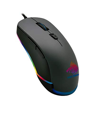 Eagle Warrior Mouse Gaming Flame, USB, Óptico, 3200DPI, Retroiluminación LED (MGGX62FLAMEEGW), Negro
