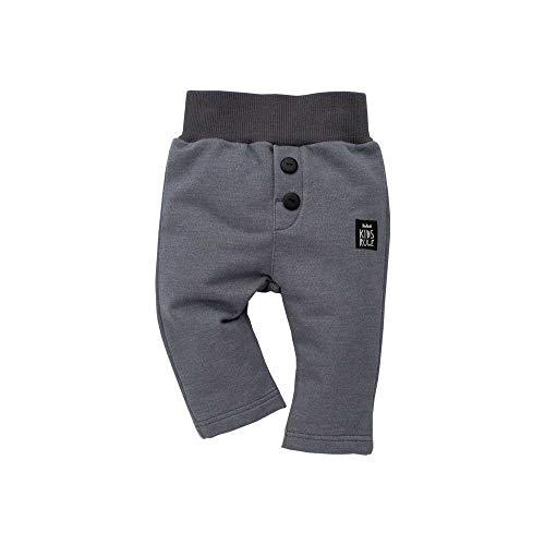 Pinokio - Happy Day – Pantalon bébé 100 % coton gris – Pantalon de jogging, pantalon bouffant – Taille élastique, boutons unisexe - Gris - 9 mois