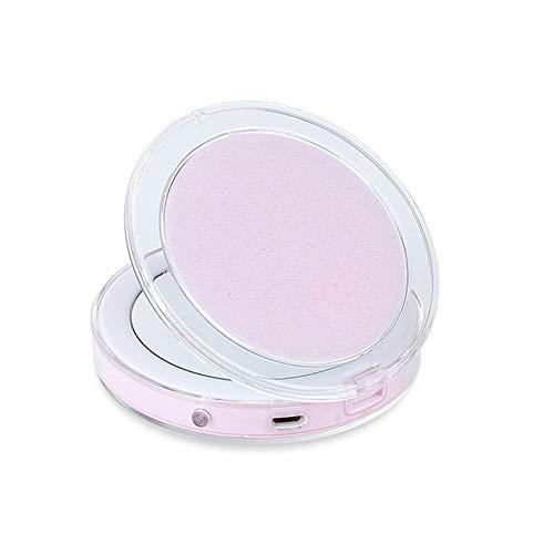 Mingstong LED Espejo de Maquillaje-Espejo de iluminación de inducción portátil de Aumento 3X, C