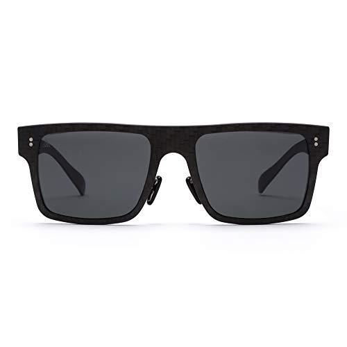 Gafas de sol polarizadas ● 100% Fibra de Carbono ● UV400 ● Unisex Adulto ● Modelo Square ● Gafas de Sol Deportivas ● Máxima Resistencia y Ligereza ● Diseño Clásico Atemporal