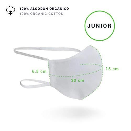 Mascarilla Higiénica Lavable R40 100% Algodón (Junior, 13-17 Años, Pack 2 Unidades)