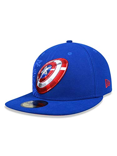 New Era 59Fifty Action Fitted Captain America Cap (Size 7 / 55.8cm)