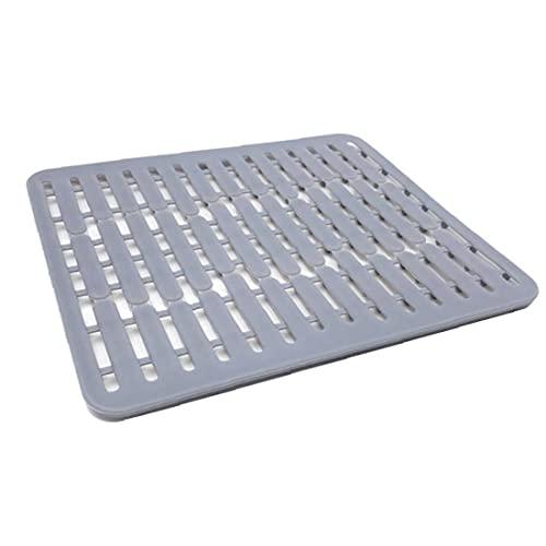NIDONE Estera de secado de platos de la tabla de drenaje de las esteras de la tabla del escurridor del plato del silicón del