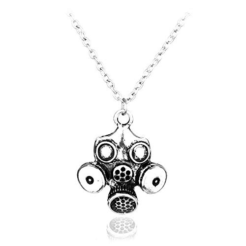 Silver Knight Unisex Halskette mit Anhänger Breaking Bad Dr Who Whovian Tardis Gasmaske in Geschenkbeutel