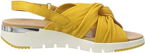 CAPRICE Kandy, Sandali con Cinturino alla Caviglia Donna, Giallo Sunflower Soft 620, 39 EU