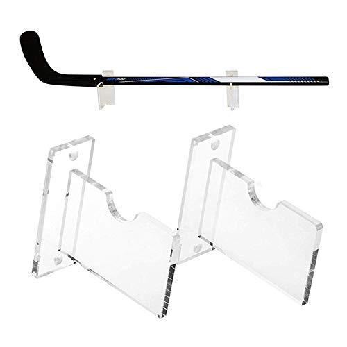 AlexHoumie Hockeyschlägerhalterung Wandhalterung, 2PCS Clear Display Holder Aufhänger Organizer Für Golf Eishockey Angelrute Home Office